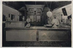 Primary view of object titled '[Wesley Housden in Meat Market]'.