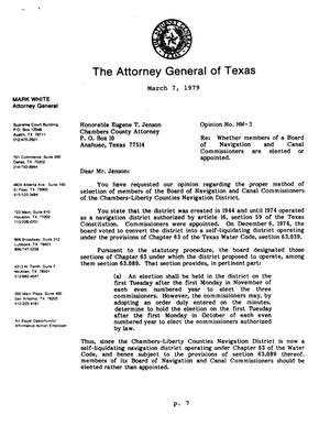 Primary view of object titled 'Texas Attorney General Opinion: MW-3'.