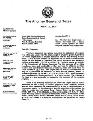 Primary view of object titled 'Texas Attorney General Opinion: MW-5'.