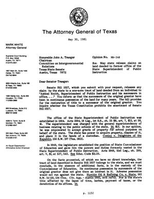 Primary view of object titled 'Texas Attorney General Opinion: MW-348'.