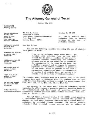 Primary view of object titled 'Texas Attorney General Opinion: MW-379'.