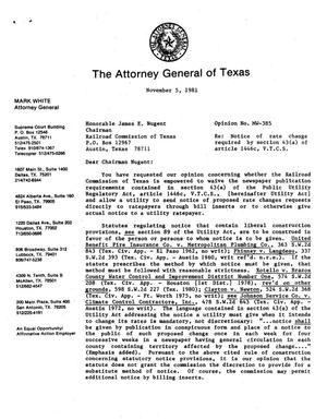 Primary view of object titled 'Texas Attorney General Opinion: MW-385'.