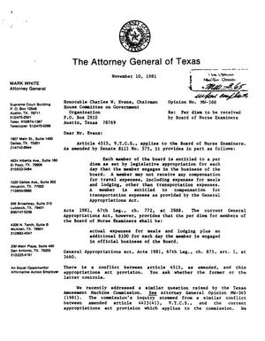 Primary view of object titled 'Texas Attorney General Opinion: MW-388'.