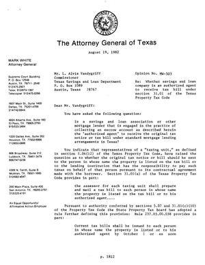 Primary view of object titled 'Texas Attorney General Opinion: MW-503'.