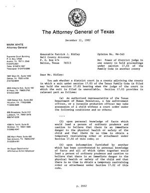 Primary view of object titled 'Texas Attorney General Opinion: MW-560'.