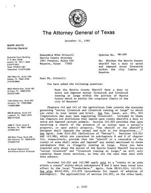 Primary view of object titled 'Texas Attorney General Opinion: MW-588'.