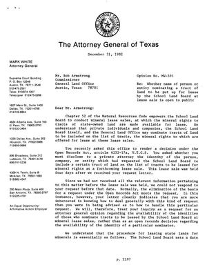 Primary view of object titled 'Texas Attorney General Opinion: MW-591'.