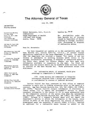 Primary view of Texas Attorney General Opinion: JM-48