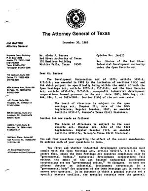 Primary view of object titled 'Texas Attorney General Opinion: JM-120'.