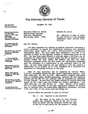 Primary view of object titled 'Texas Attorney General Opinion: JM-121'.
