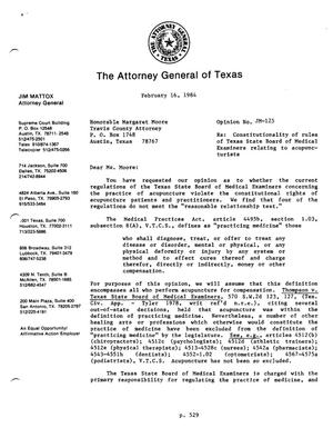Primary view of object titled 'Texas Attorney General Opinion: JM-125'.