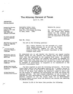 Primary view of object titled 'Texas Attorney General Opinion: JM-142'.