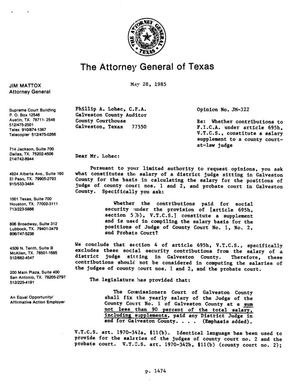Primary view of object titled 'Texas Attorney General Opinion: JM-322'.