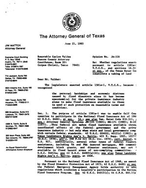 Primary view of object titled 'Texas Attorney General Opinion: JM-328'.