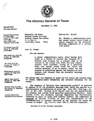 Primary view of object titled 'Texas Attorney General Opinion: JM-350'.