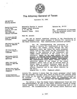 Primary view of object titled 'Texas Attorney General Opinion: JM-355'.