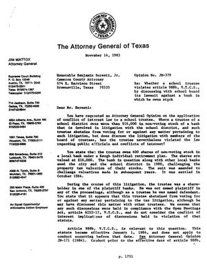 Primary view of object titled 'Texas Attorney General Opinion: JM-379'.