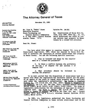 Primary view of object titled 'Texas Attorney General Opinion: JM-381'.