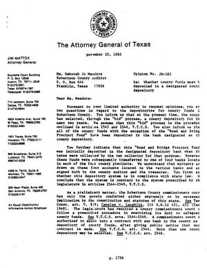 Primary view of object titled 'Texas Attorney General Opinion: JM-383'.