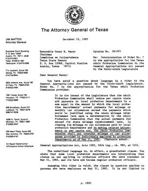 Primary view of object titled 'Texas Attorney General Opinion: JM-393'.