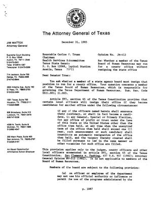 Primary view of object titled 'Texas Attorney General Opinion: JM-413'.