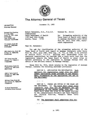 Primary view of object titled 'Texas Attorney General Opinion: JM-414'.