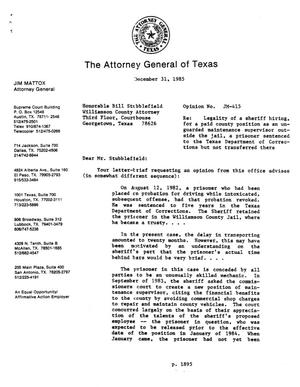 Primary view of object titled 'Texas Attorney General Opinion: JM-415'.