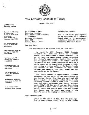 Primary view of object titled 'Texas Attorney General Opinion: JM-423'.