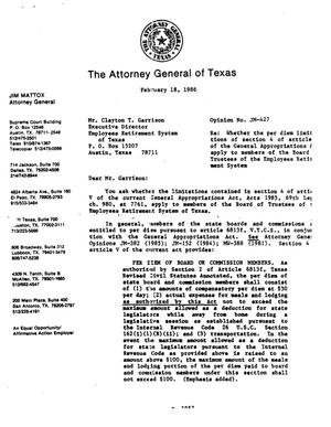 Primary view of object titled 'Texas Attorney General Opinion: JM-427'.