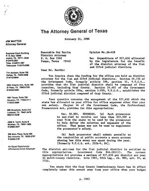 Primary view of object titled 'Texas Attorney General Opinion: JM-428'.