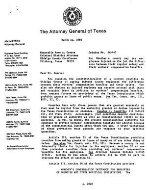 Primary view of object titled 'Texas Attorney General Opinion: JM-447'.
