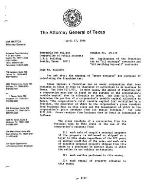 Primary view of object titled 'Texas Attorney General Opinion: JM-478'.