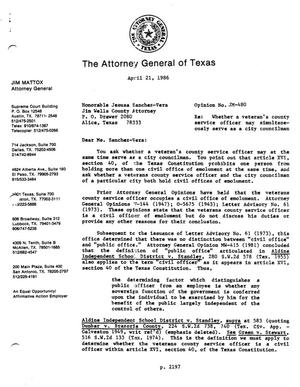 Primary view of object titled 'Texas Attorney General Opinion: JM-480'.