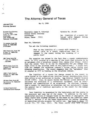 Primary view of object titled 'Texas Attorney General Opinion: JM-489'.