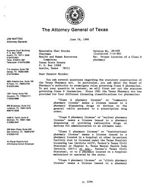 Primary view of object titled 'Texas Attorney General Opinion: JM-500'.