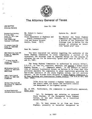 Primary view of object titled 'Texas Attorney General Opinion: JM-507'.