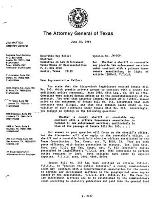 Primary view of object titled 'Texas Attorney General Opinion: JM-509'.