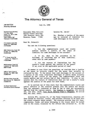 Primary view of object titled 'Texas Attorney General Opinion: JM-517'.
