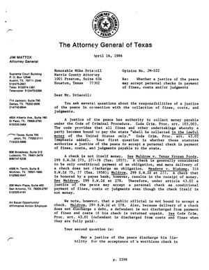 Primary view of object titled 'Texas Attorney General Opinion: JM-522'.