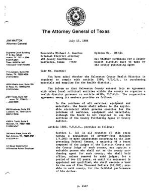 Primary view of object titled 'Texas Attorney General Opinion: JM-524'.