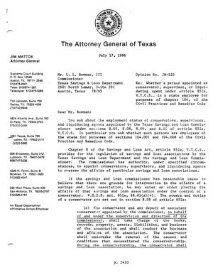 Primary view of object titled 'Texas Attorney General Opinion: JM-525'.