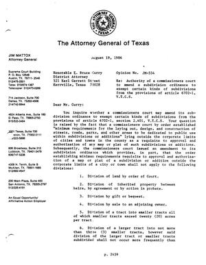 Primary view of object titled 'Texas Attorney General Opinion: JM-534'.