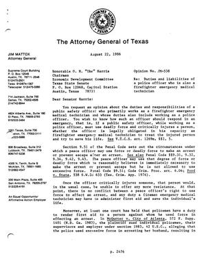 Primary view of object titled 'Texas Attorney General Opinion: JM-538'.