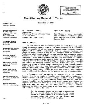 Primary view of object titled 'Texas Attorney General Opinion: JM-543'.
