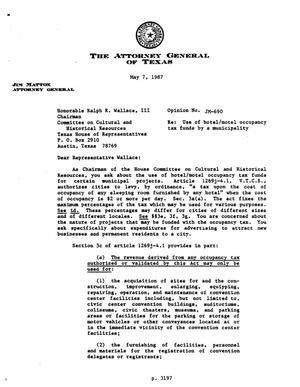 Primary view of object titled 'Texas Attorney General Opinion: JM-690'.