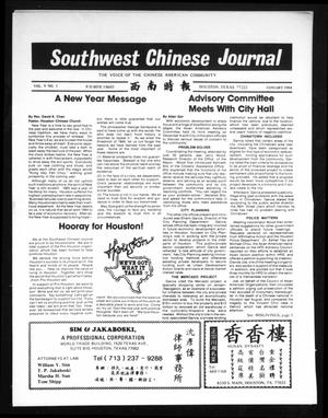 Primary view of object titled 'Southwest Chinese Journal (Houston, Tex.), Vol. 9, No. 1, Ed. 1 Sunday, January 1, 1984'.
