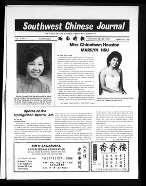 Primary view of object titled 'Southwest Chinese Journal (Houston, Tex.), Vol. 9, No. 2, Ed. 1 Wednesday, February 1, 1984'.