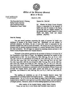 Primary view of object titled 'Texas Attorney General Opinion: DM-380'.