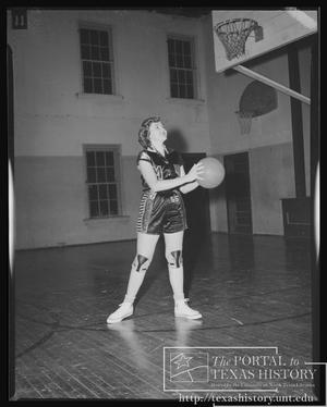 Primary view of object titled '[Meridian Girls' High School Basketball 1953 #9]'.
