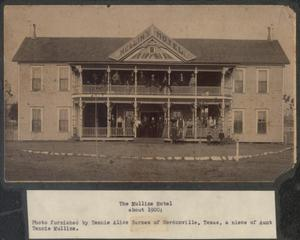 Primary view of object titled '[The Mullins Hotel]'.